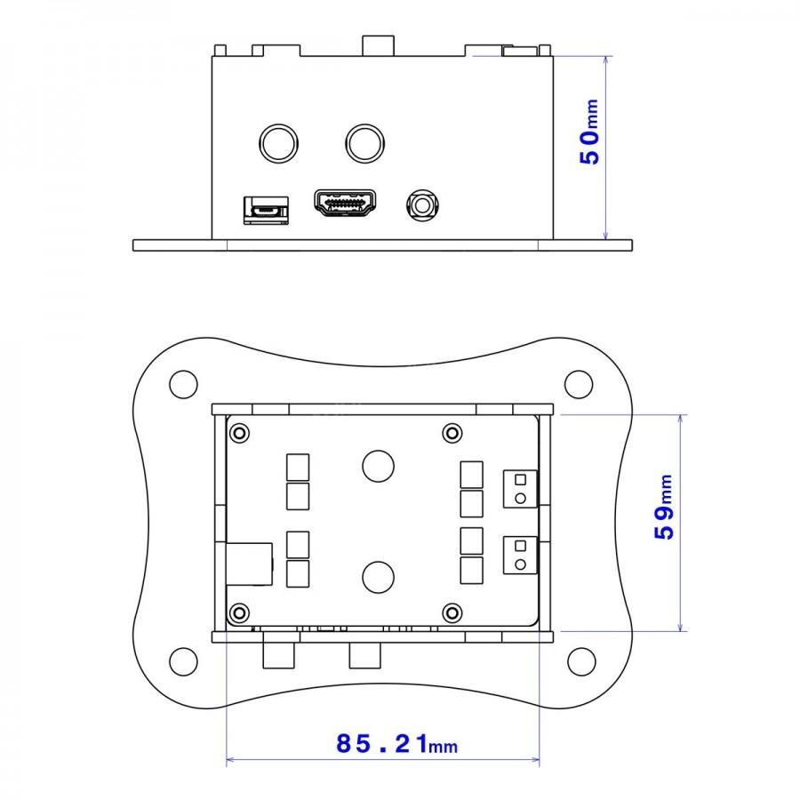 Pack Raspberry Pi 3 Allo Boss V12 Dac Pcm5122 Volt Amp 25w Classa Power Audio Amplifier Circuit Diagram Supreem Circuits Tpa3118d2 Case