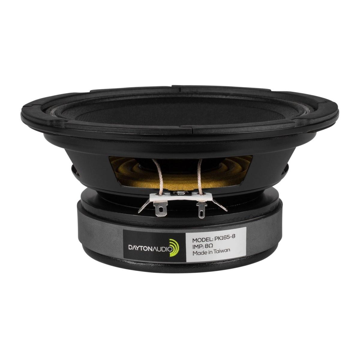 DAYTON AUDIO PK165-8 Speaker Driver Midrange Kevlar / Paper 100W 8 Ohm 91dB 95Hz - 9000Hz Ø16.5cm