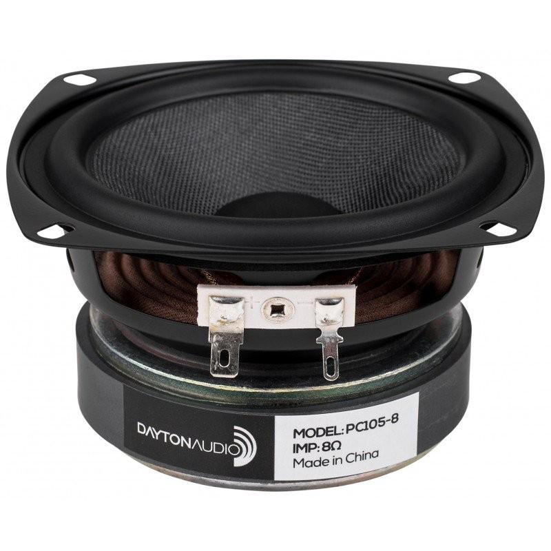 DAYTON AUDIO PC105-8 Haut-Parleur Large Bande 40W 8 Ohm 86dB 80Hz - 15kHz Ø 10.7 cm