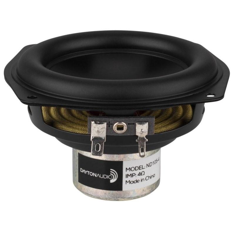 DAYTON AUDIO ND105-4 Haut-Parleur Bas Médium Aluminium 30W 4 Ohm 87dB 60Hz - 10kHz Ø10cm