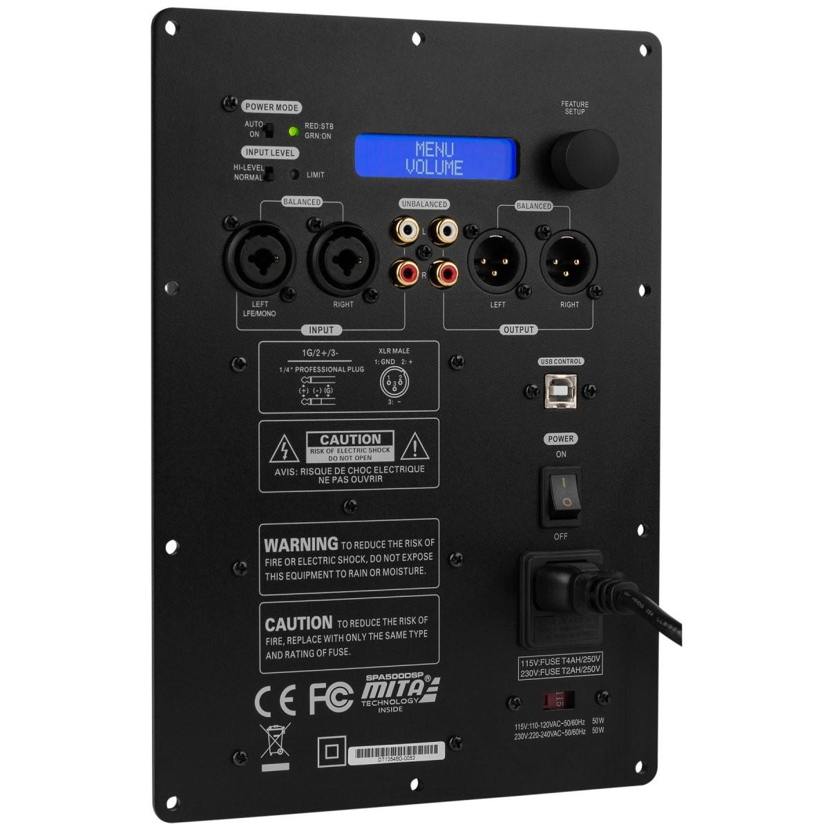 DAYTON AUDIO SPA500DSP Module amplificateur Class-D Subwoofer 500W avec DSP