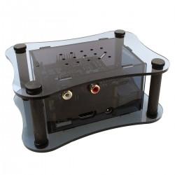 ALLO Acrylic case for Raspberry Pi 2 / 3 + Boss DAC + Isolator Black