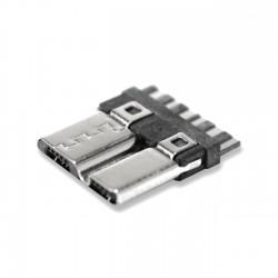 Micro USB B 3 connector DIY