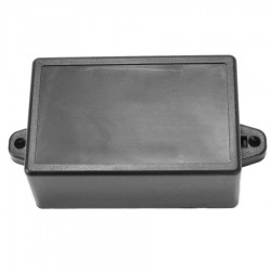 Plastic Case for Electronic Components Black 81x51x35 mm