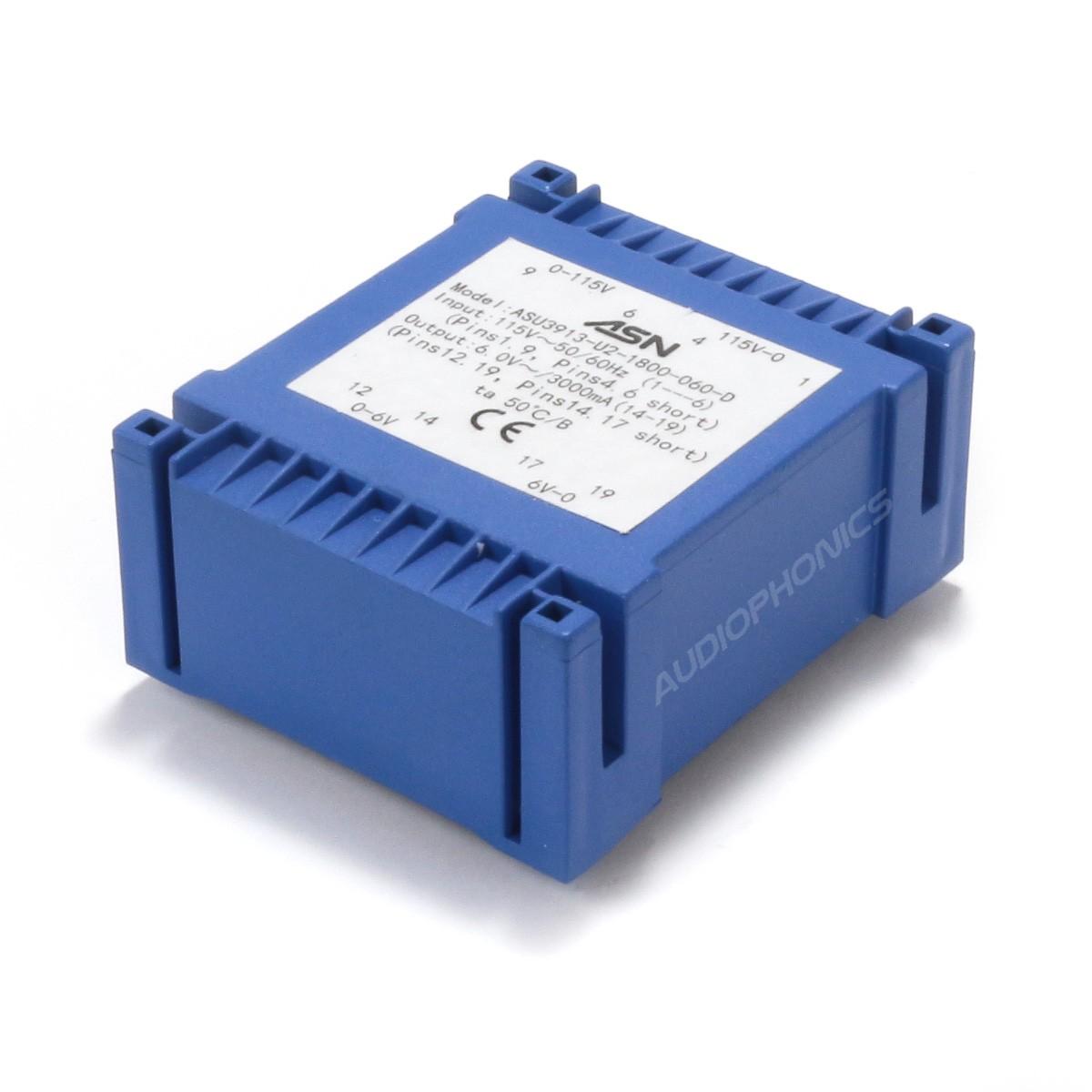 Transformateur pour Circuits Imprimés UI 39/13,5 2x6V 3A 18VA