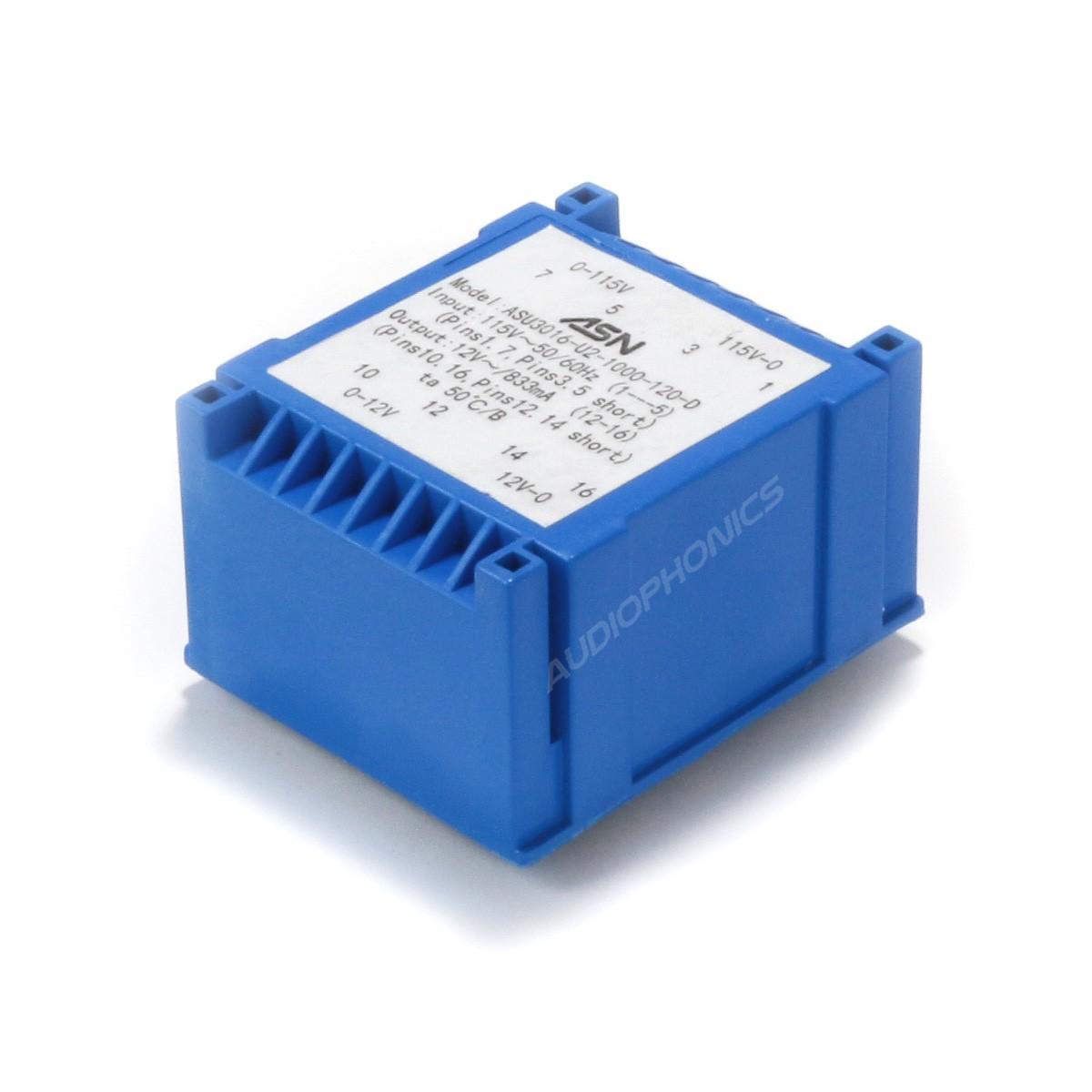 Transformer for PCB UI 30/8 2x12V 0,42A 10VA