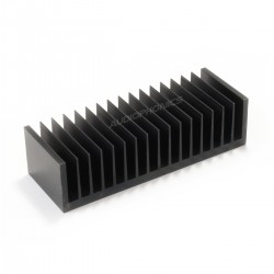 Heatsink Radiator Black Anodized 170x45x61mm