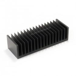 Radiateur Dissipateur Thermique Anodisé Noir 170x45x61mm