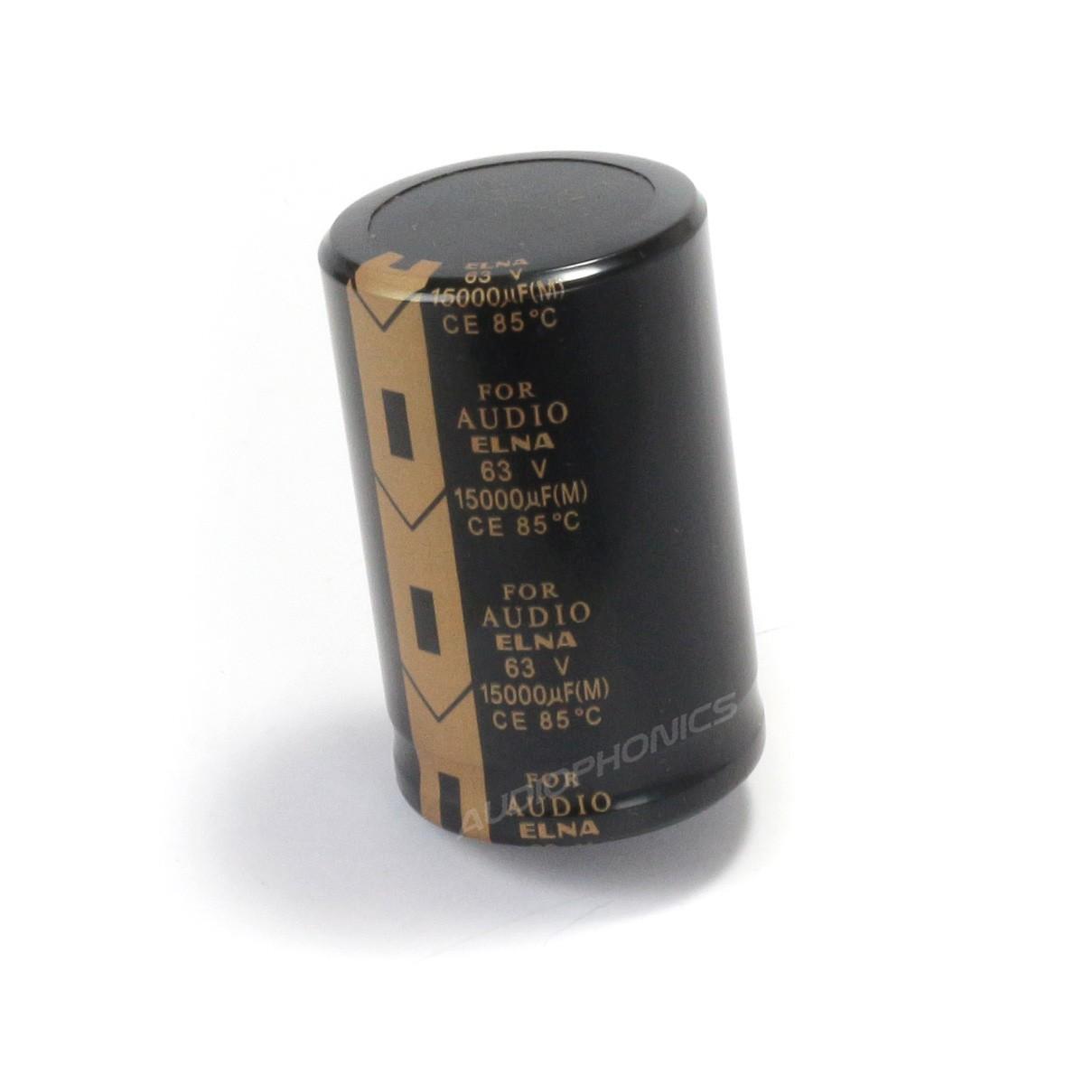 ELNA Condensateur Électrolytique Hautes Performances 63V 15000µF
