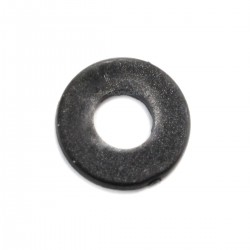 Flat Nylon Washer M4x1mm Black (x10)
