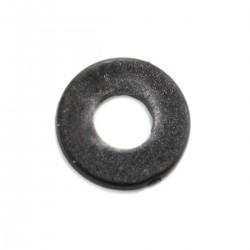 Rondelles Plates Nylon M4x1mm Noir (x10)