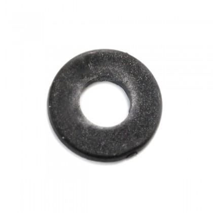 Flat Nylon Washers M4 x 1mm Black (x10)