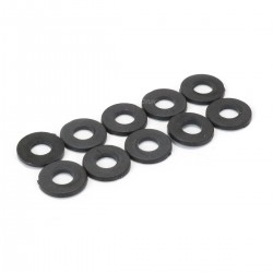 Flat Nylon Washers M2.5 x 1mm Black (x10)