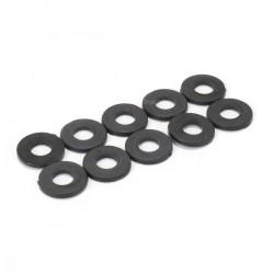 Flat Nylon Washers M2.5 x 1mm Black (x10)