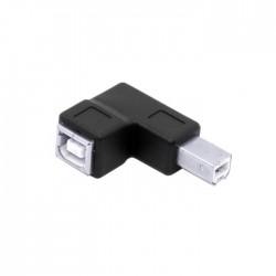 Adaptateur USB-B Mâle Coudé vers USB-B Femelle 2.0