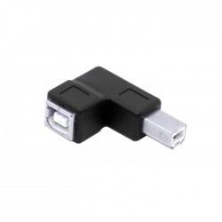 Adapter USB-B Male Angled to USB-B Female 2.0