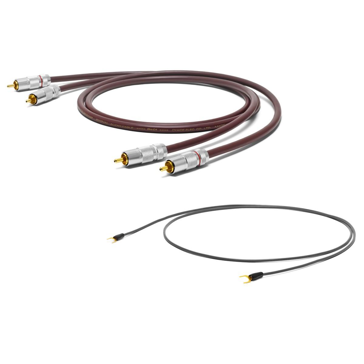 OYAIDE PH-01 RR Câble Phono RCA-RCA Cuivre 102 SSC + Câble de Masse 1m