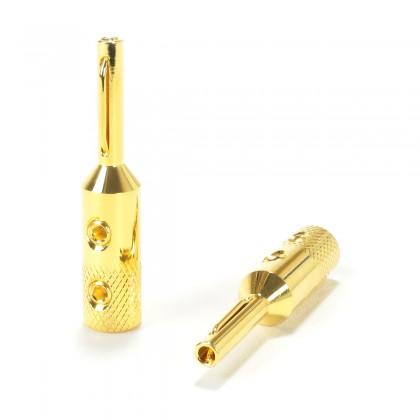 VIBORG VB-401 (G) Pure Copper Banana Plug Gold Plated 24k 3μ Ø5mm (Set x4)
