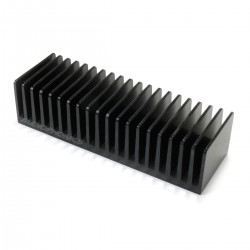 Heatsink Anodised Aluminium Black 160x50x40mm