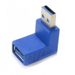 Adaptateur USB-A Mâle Coudé vers USB-A Femelle 3.0