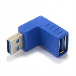 Adapter USB-A Male Angled to USB-A Female 3.0