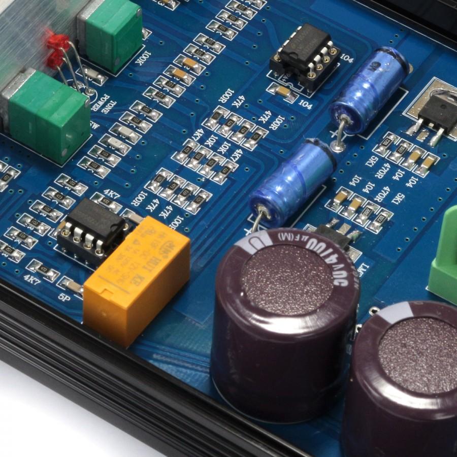 Audiophonics Pre Tc10 Preamplifier With Tone Control 2x Aop Passive Circuit Lm49720na