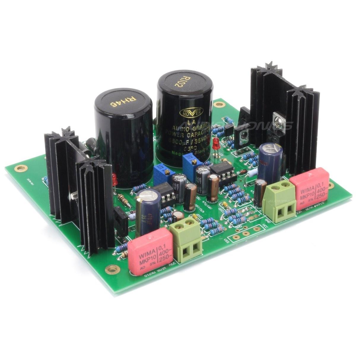 Regulated linear supply Module OP TL072 MJE15034 28V