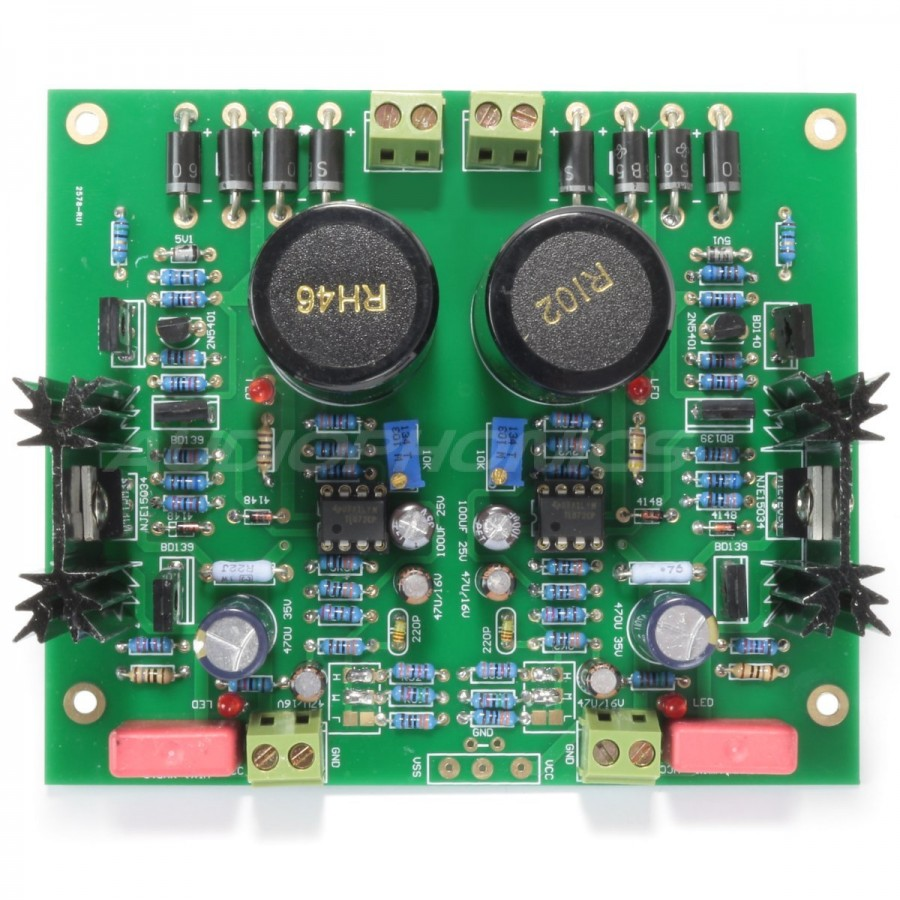 Regulated Linear Supply Module Op Tl072 Mje15034 28v Audiophonics Circuit Diagram Of Preamp Using Furutech Cble Symtrique Pour Casque