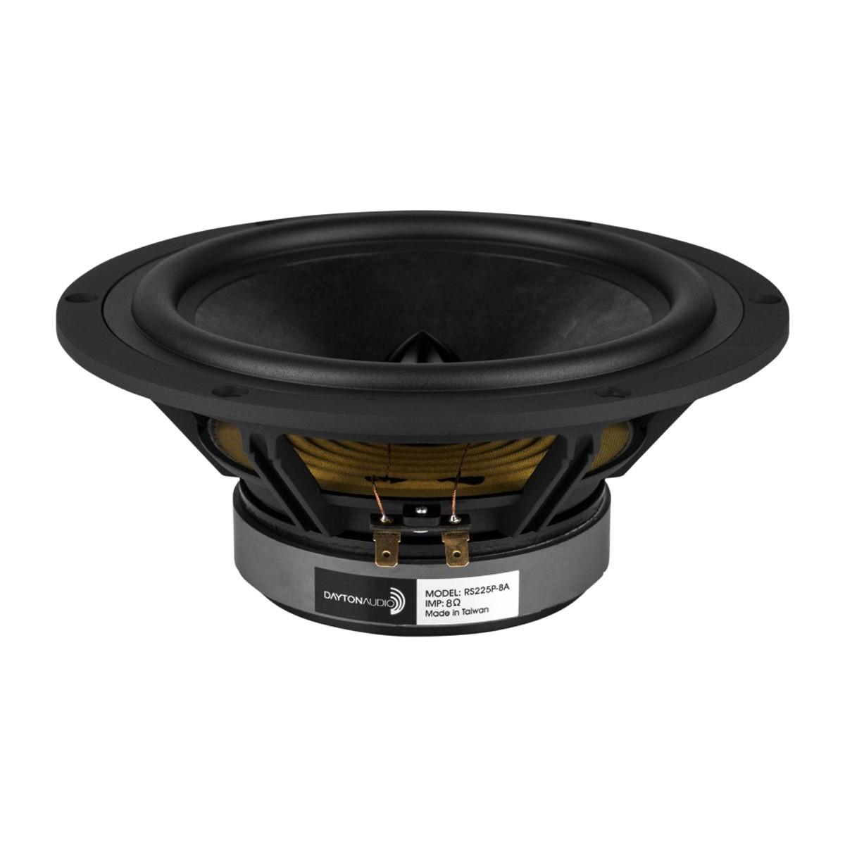 DAYTON AUDIO RS225P-8A Reference Series Speaker Driver Woofer / Midbass 70W 8 Ohm 88dB 30Hz - 7000Hz Ø20.3cm