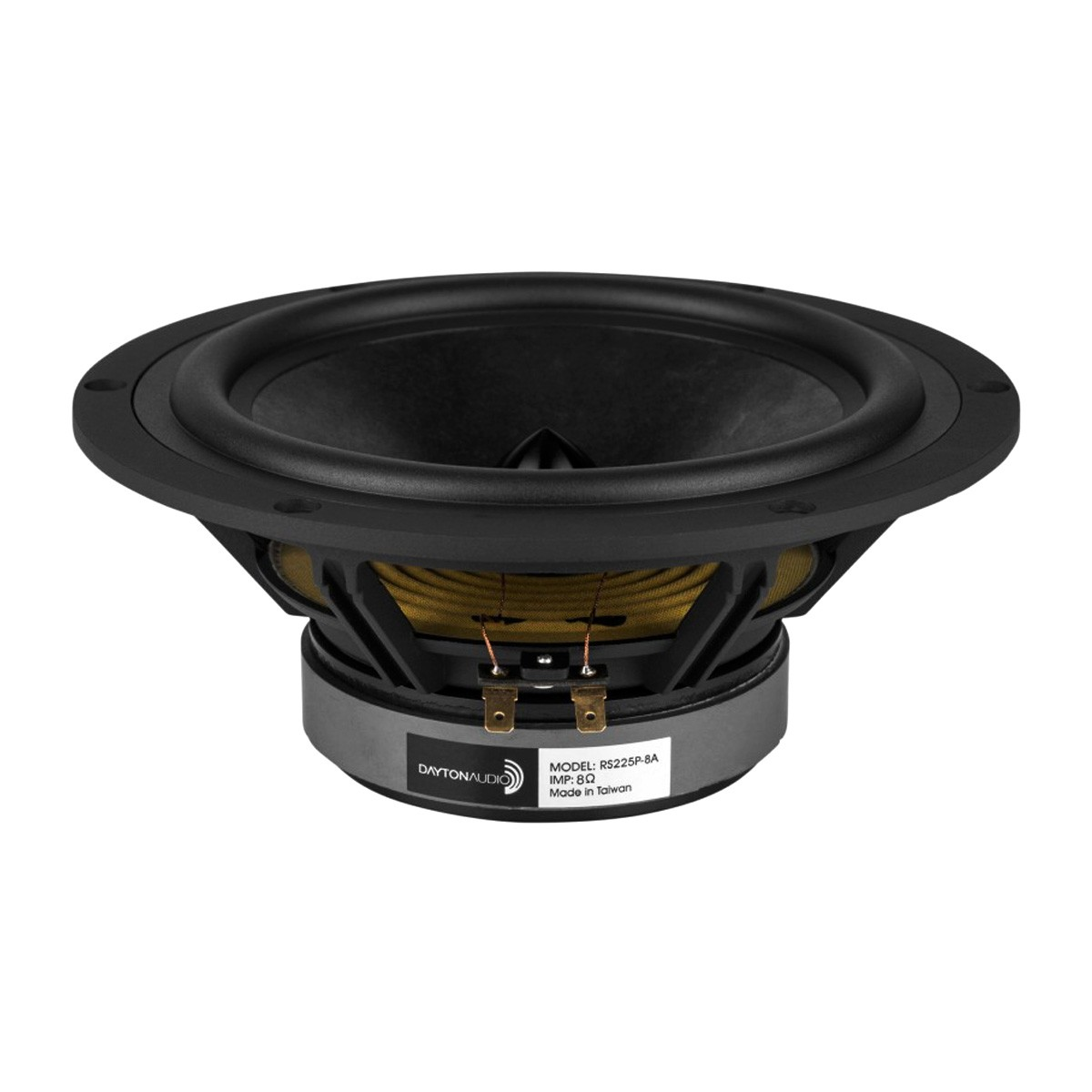 DAYTON AUDIO RS225P-8A Reference Series Speaker Driver Woofer / Midbass 70W 8 Ohm 88dB 40Hz - 4500Hz Ø20.3cm