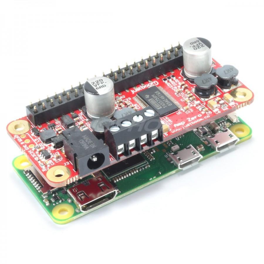 JUSTBOOM Digital player Raspberry Pi W Zero Hat Amp Zero FDA