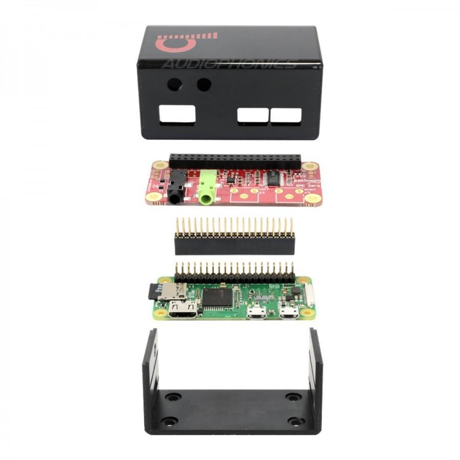 JUSTBOOM Kit digital player DAC Raspberry Zero W PCM5121 with