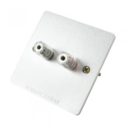 CC E-SERIES Wall Plate Wiring Kit with 2 Binding Post Aluminium Silver