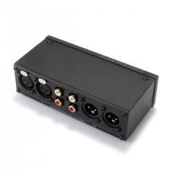 Passive Preamplifier Converter RCA to XLR / XLR to RCA Black