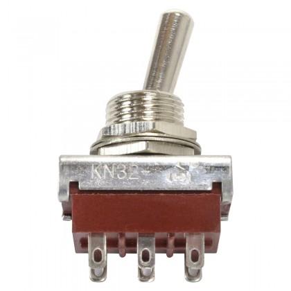 Interrupteur à bascule 2 pôles 2 positions 250V 5A (Diamètre de perçage 12mm)