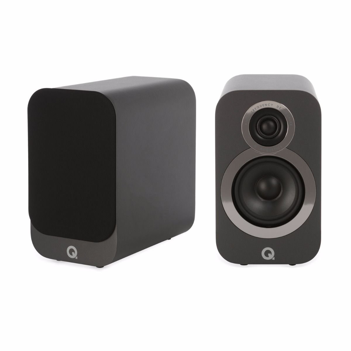 Q acoustics 3010i Bookshelf Speakers Graphite Black (pair)