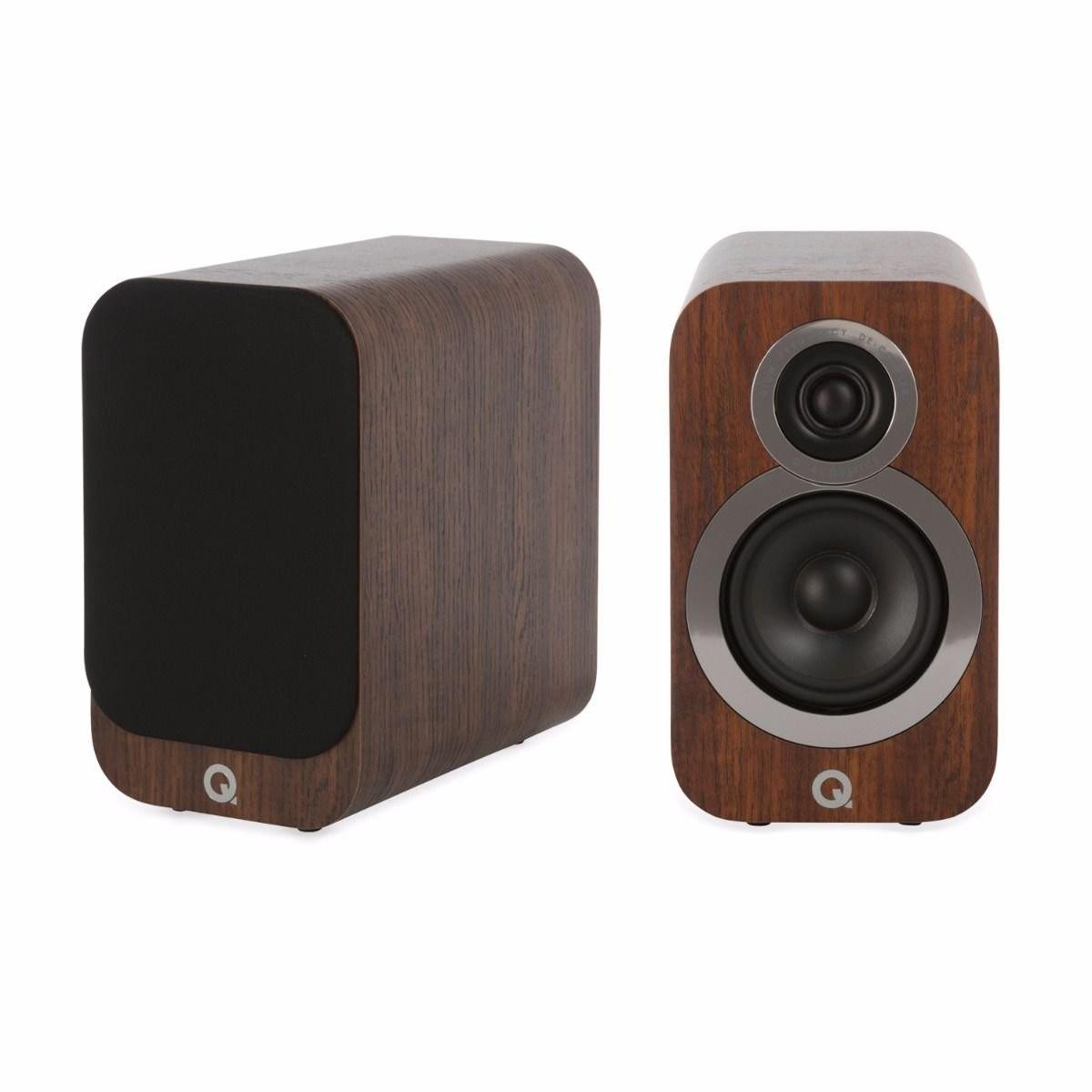 Q Acoustics 3010i Enceintes bibliothèque Noyer (La paire)