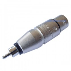 Adaptateur Neutrik XLR Femelle - RCA Mâle