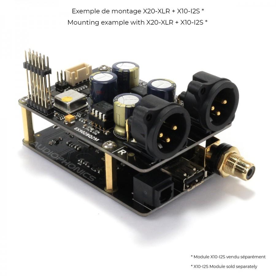 X20-XLR DAC Module I2S XLR ES9028Q2M 24bit 192kHz 2x AOP NJR