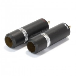 GAOFEI GF-RHO029R Connecteurs RCA Mâles Cuivre Ø 8.9mm (La Paire)