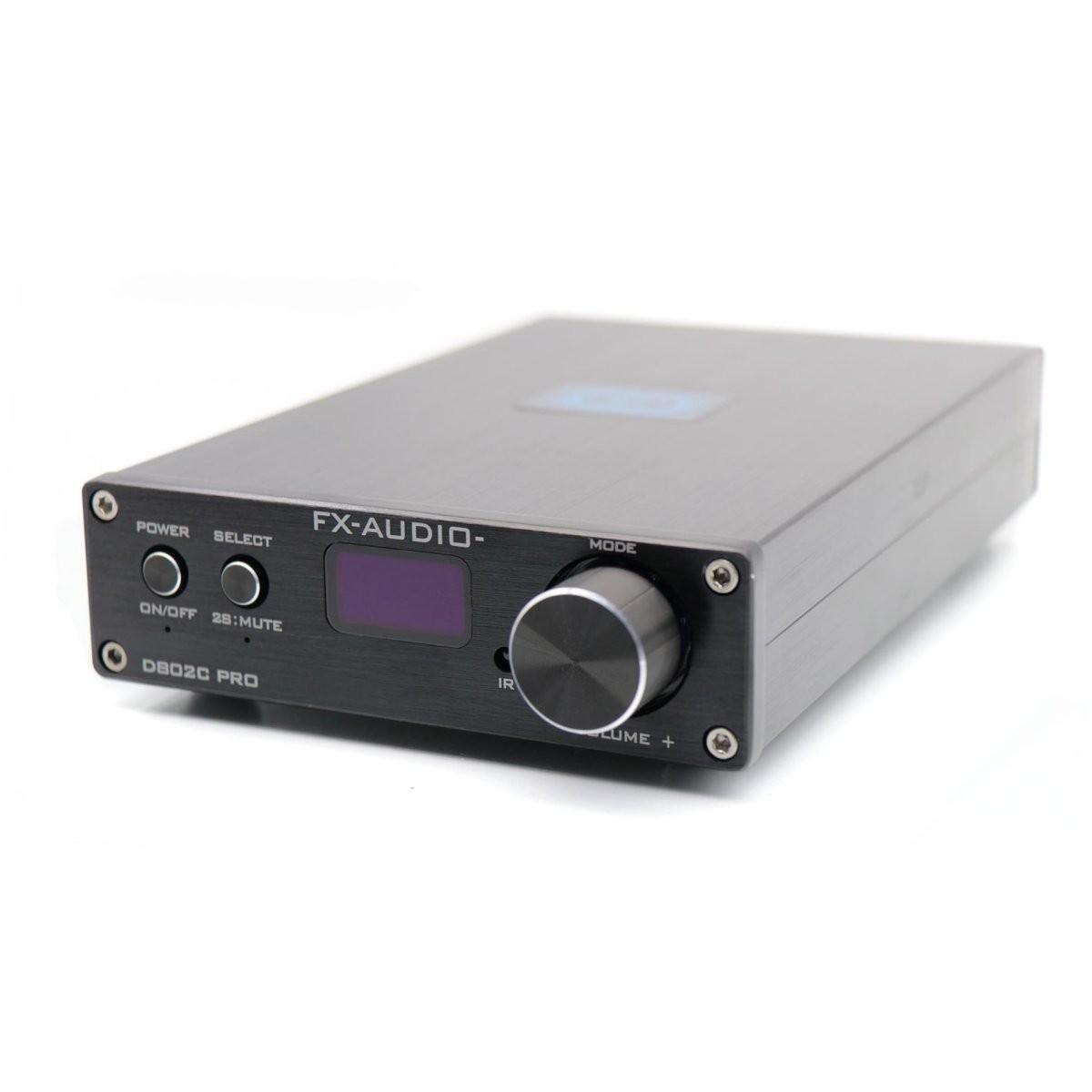 FX-AUDIO D802C PRO Amplificateur FDA Bluetooth 4.2 NFC Class D STA326 2x80W / 4 Ohm Noir