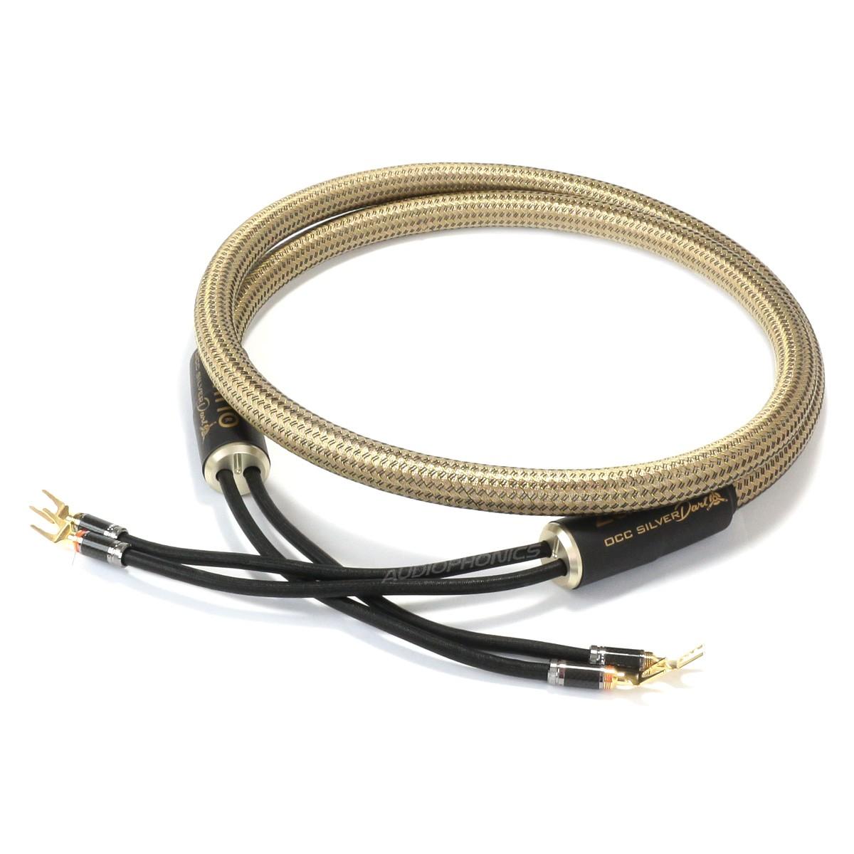 1877PHONO OCC SILVER DART Câbles d'Enceintes Fourches Cuivre OCC / Argent 2.5m (La paire)