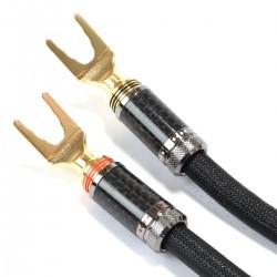 1877PHONO OCC SILVER DART Câbles d'Enceintes Fourches Cuivre / Argent OCC 2.5m (La paire)