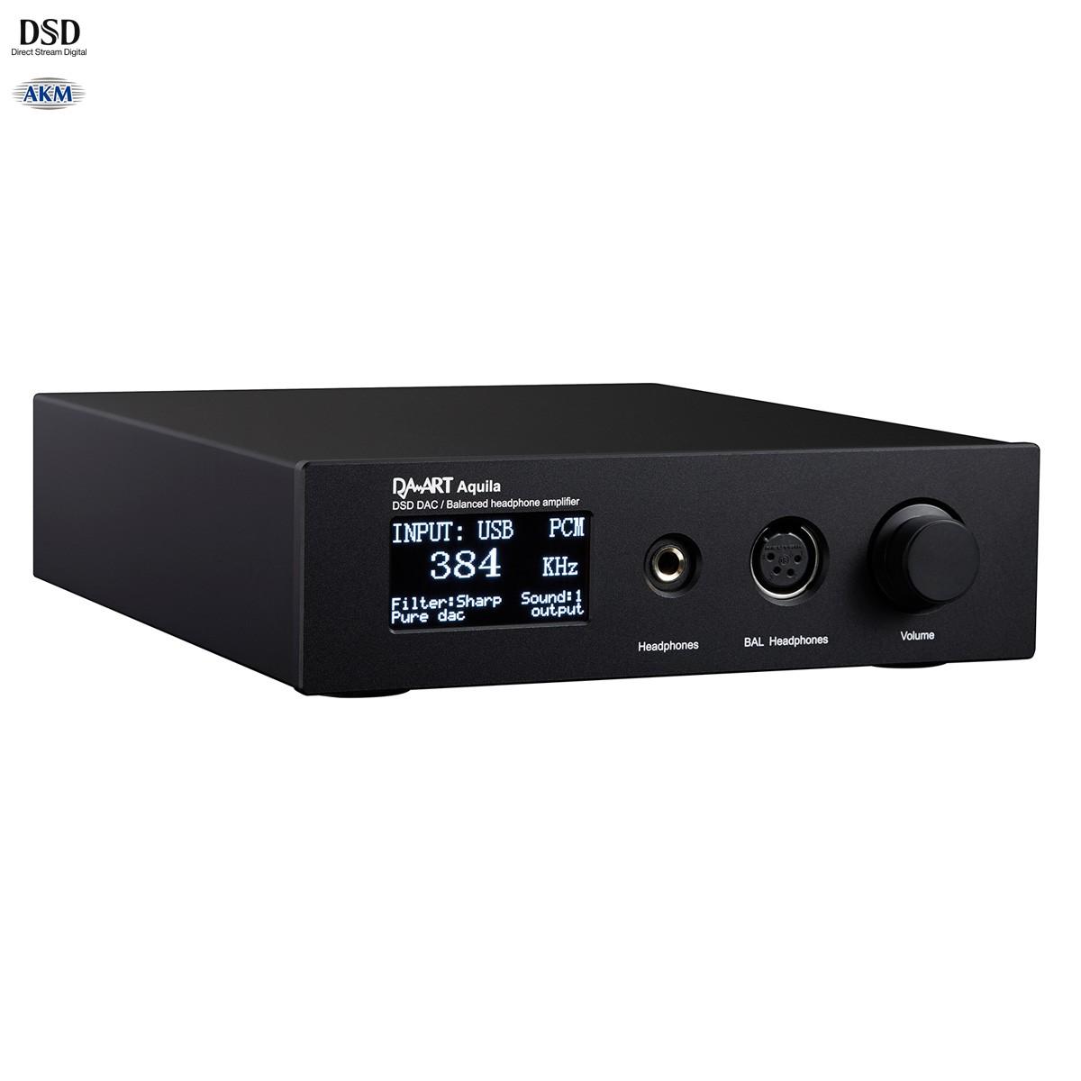 DAART AQUILA DAC Headphone Amplifier Preamplifier Balanced AK4497 TPA6120A2 32bit 384kHz DSD
