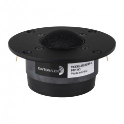 DAYTON AUDIO RST28F-4 Haut-Parleur Tweeter à Dôme Tissu 80W 4 Ohm 94dB 1400Hz - 20kHz Ø 2.8cm