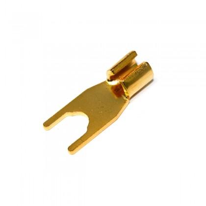 ELECAUDIO FC-104 24K Gold Plated Pure Copper Flat Forks Ø5.8mm (Unité)