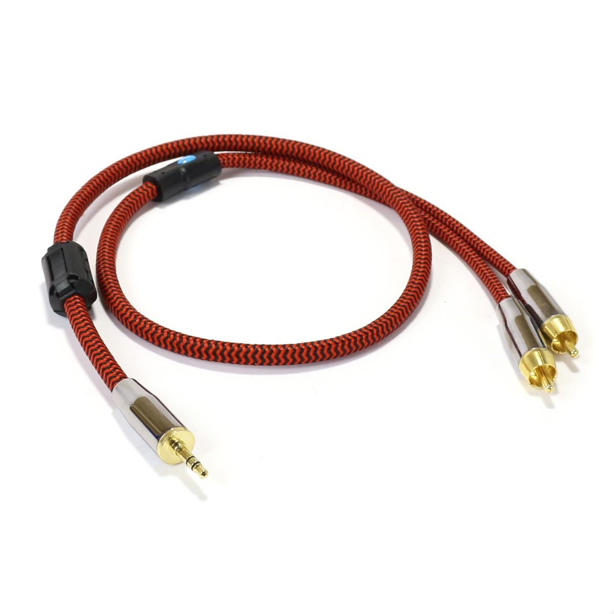 CYK Câble de modulation Jack 3.5mm - RCA Cuivre OFC 24K 0.75m