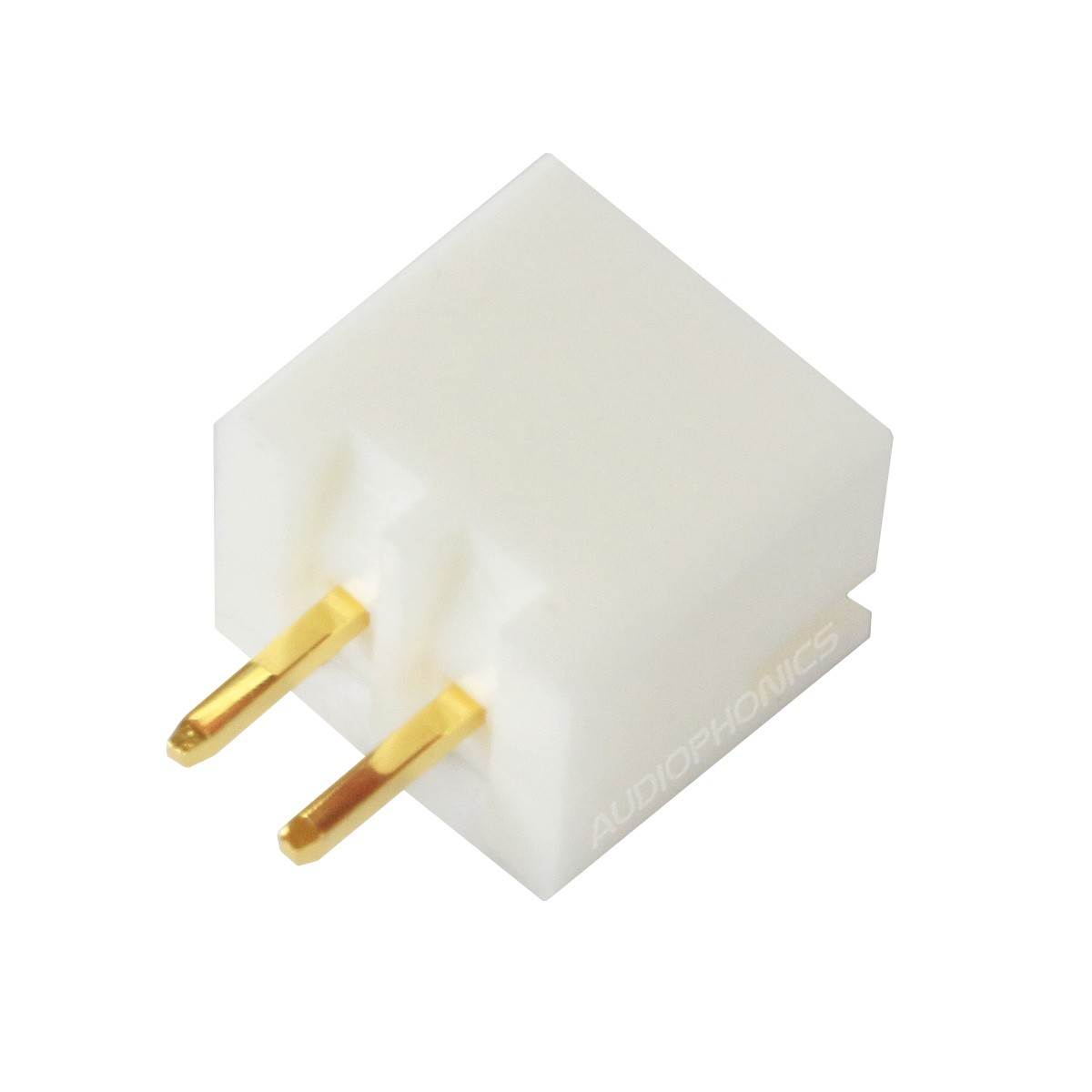 XH 2.54mm Male Socket 2 Channels Gold-Plated White (Unit)