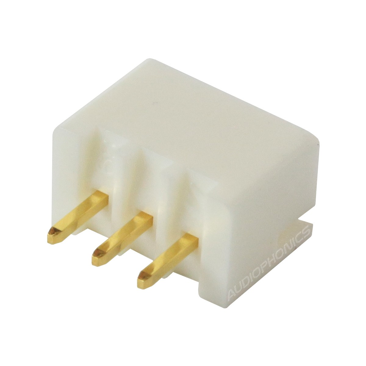XH 2.54mm Male Socket 3 Channels Gold-Plated White (Unit)