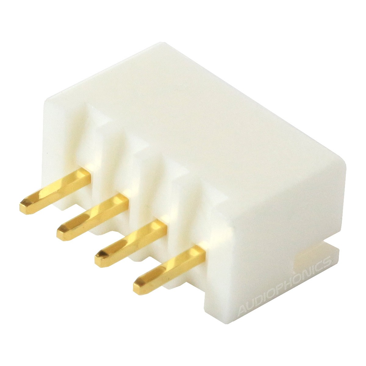XH 2.54mm Male Socket 4 Channels Gold-Plated White (Unit)